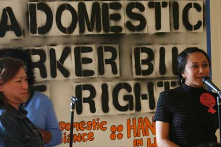 Domestic Workers Celebrate Women's Day. ©2011 David Bacon