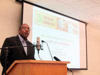 Allen Fernandez Smith, President &amp; CEO of Urban Habitat delivers welcome address 2012 Christine Joy Ferrer/Urban Habitat
