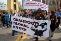 Members of Grassroots Global Justice march against the G-20 meetings in Pittsburgh, Pennsylvania. © 2009 Orin Langelle GJEP-GJEP