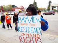 A POWER demonstration in Bayview-Hunter's Point. Courtesy of People Organized to Win Employment Rights (POWER).