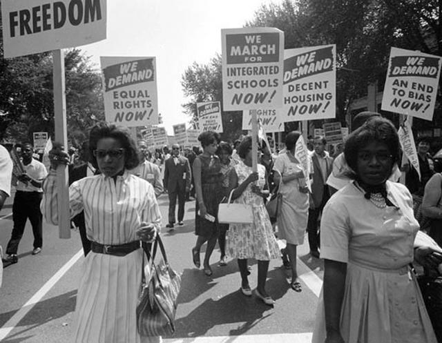 A Civil Rights Movement demonstration. Courtesy of the Library of Congress