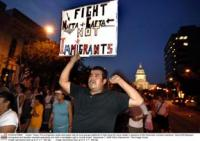 Immigrant rights advocates at a rally and candlelight vigil in Austin, Texas. (c) 2006 Bob Daemmrich / The Image Works