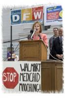 Wisconsin Representative Terese Berceau urges Wal-Mart to provide adequate healthcare.  Courtesy of Terese Berceau