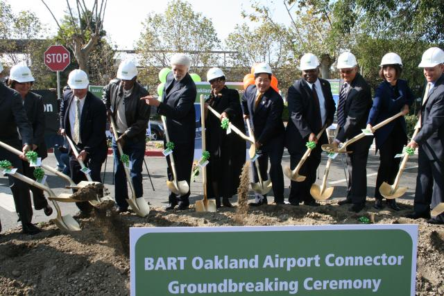 The BART Oakland Airport Connector groundbreaking ceremony. 2010 Urban Habitat