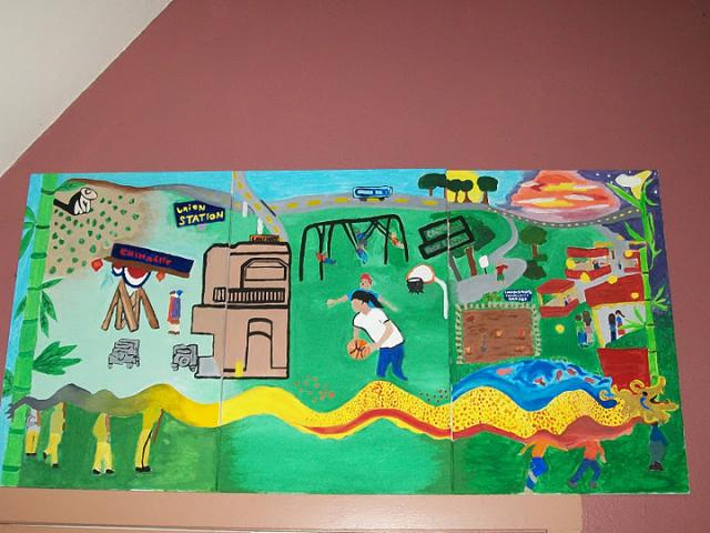SEACA students painted a three-panel mural honoring Chinatown. ©2011 SEACA