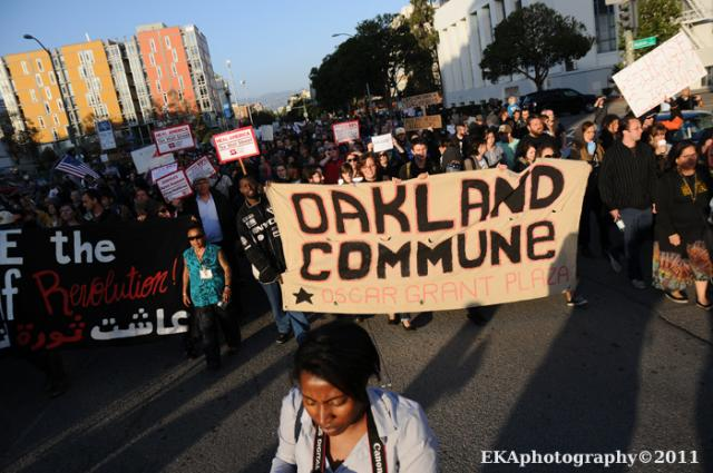At the General Strike on November 2, in Oakland. ©2011 Eric K. Arnold