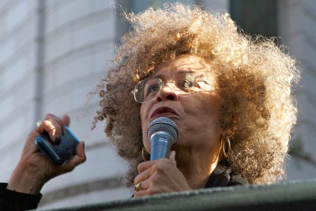 Angela Davis at the General Strike on Nov. 2, in Oakland. 2011 Joe Feria-Galicia