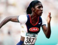 Gwen Torrence at the 1996 Summer Olympics. Courtesy of rapidas.webcindario.com