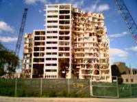 Demolition of the Cabrini-Green public housing units in Chicago, Illinois, in September 2006. Courtesy of equalvoiceforfamilies