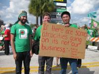 FCWA members marching to a Publix market in Tampa Bay, Florida. Courtesy of FCWA