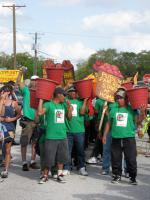 Farmworkers from Immokalee performing a Teatro at the FCWA protest against Publix in Tampa. Courtesy of FCWA