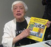 Grace Lee Boggs recalls history of RP&E at USSF Detroit, 6-2010, ©Jess Clarke