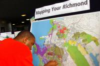 Young Man Maps His Important Areas of Richmond, CA