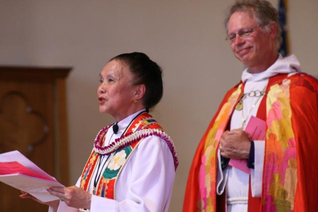 Fran Toy at the 25th Anniversary of her ordination. Courtesy of the Episcopal Church.