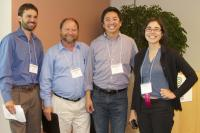 Panelists (left to right) Eli Moore, David Vintze, Jeremy Liu, and Lindsay Imai