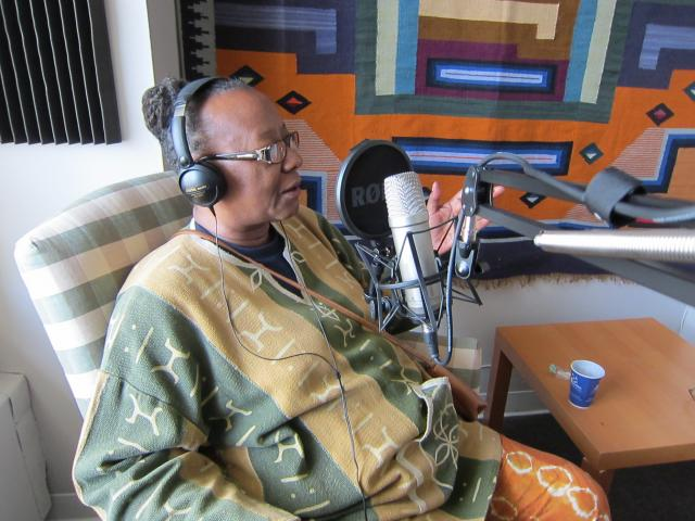 Bertha Lewis interviewed on Radio RP&E. ©2012 Christine Joy Ferrer/Urban Habitat