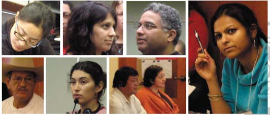 Photos: Participants at the 3rd National Immigrant and Refugee Rights Training Institute © 2006 NNIRR