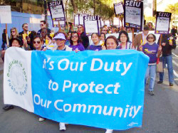 One Thousand March Against City Budget Cuts