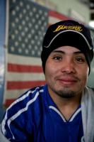  An immigrant worker at a day labor center where he joins others to organize to pursue worker rights.  2009 David Bacon