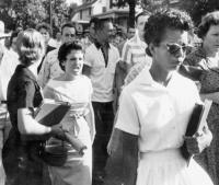 Students of Central HS in Little Rock, AK shout insults at Elizabeth Eckford © 1957 Courtesy of the Arkansas Democrat Gazette