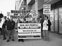 Participants in the demonstration against the Mortgage Bankers Association's Policy Summit © 2008 Alan Pollock/Pan-African News