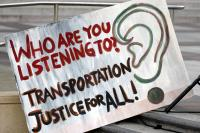 A Sign from a Transit Justice Rally